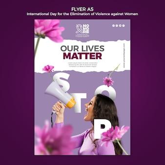 Journée internationale pour l'élimination de la violence à l'égard des femmes flyer a5
