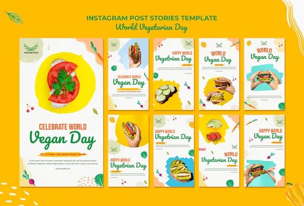 Journée mondiale des végétariens instagram posts