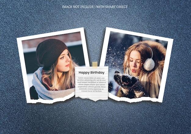 Joyeux Anniversaire Carte De Voeux Photo Moodboard Premium Psd PSD Premium