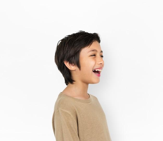 Joyeux kid avoir du plaisir sourire concept