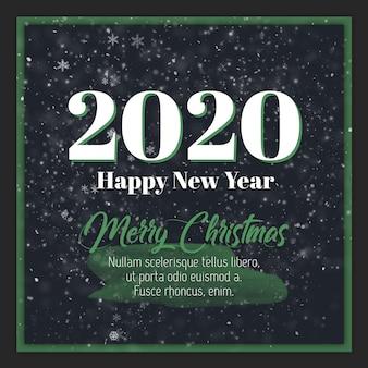 Joyeux noël et bonne année 2020 carte de voeux