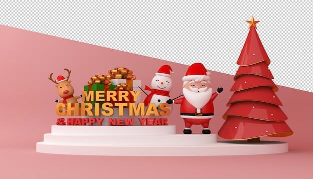 Joyeux noël et bonne année carte maquette