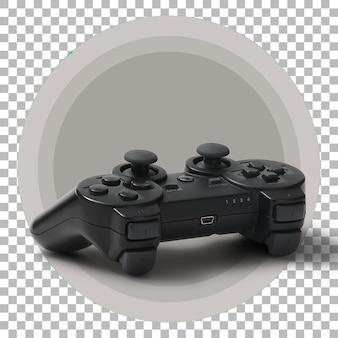 Joystick noir sur fond transparent.