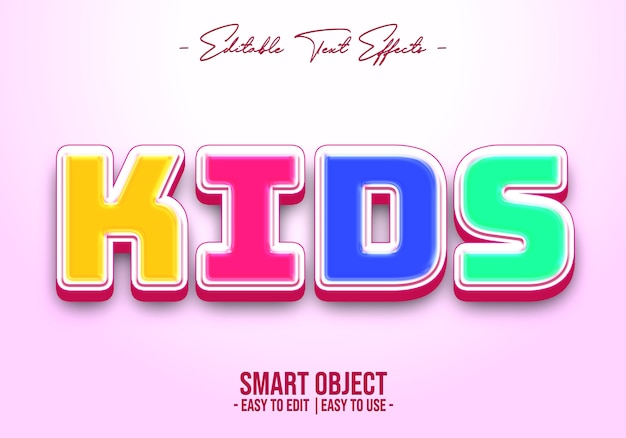 Kids-text-style-effect