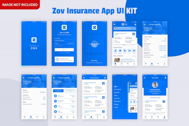 Kit d'interface utilisateur de l'application d'assurance zov