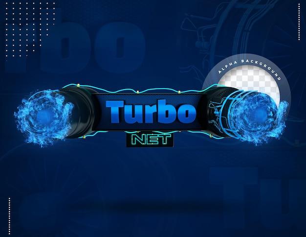 Label 3d turbo net pour la composition internet au brésil