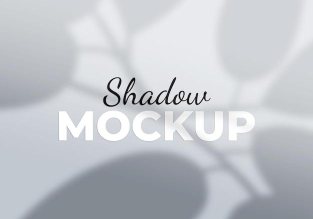 Laisse l'arrière-plan de la maquette de l'ombre