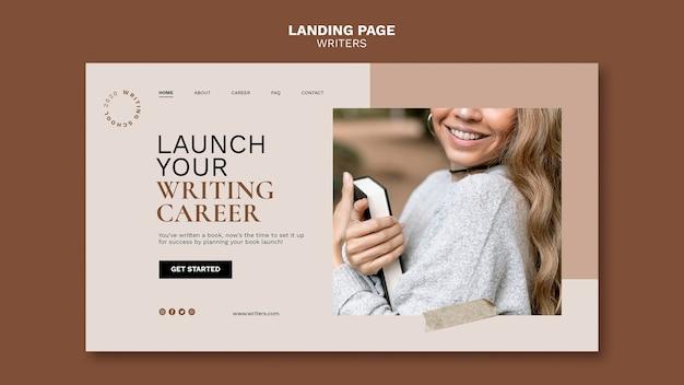 Lancez la page de destination de votre carrière d'écrivain