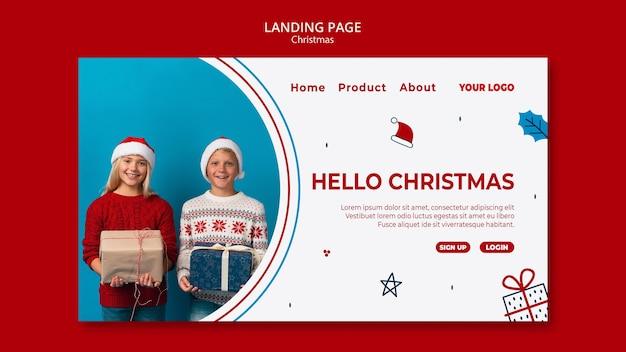 Landing page pour noël