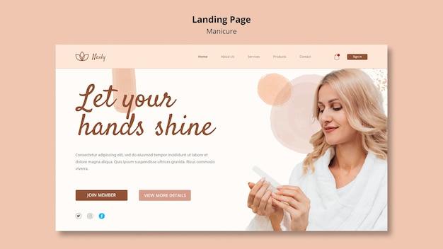 Landing page pour salon de manucure
