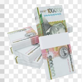 Laos currency kip 100.000 : pile de billets de banque lak laos