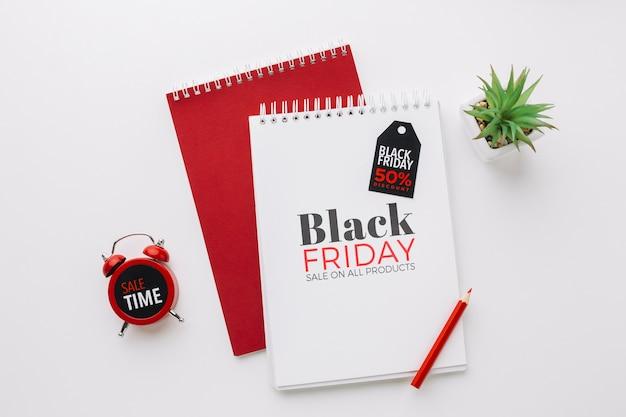 Lay plat de maquette concept vendredi noir