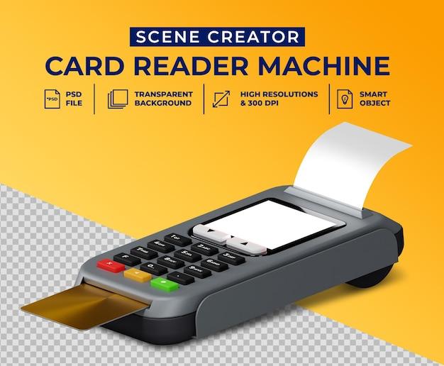 Lecteur de cartes de débit et de crédit en conception 3d