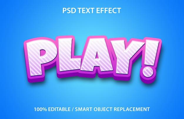 Lecture d'effet de texte modifiable
