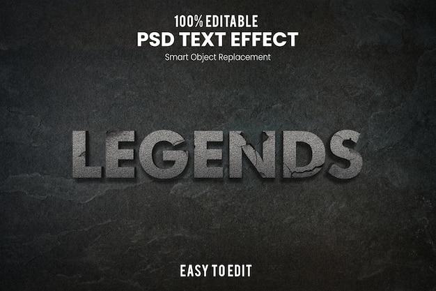Légendes effet de texte