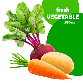 Légumes isolés
