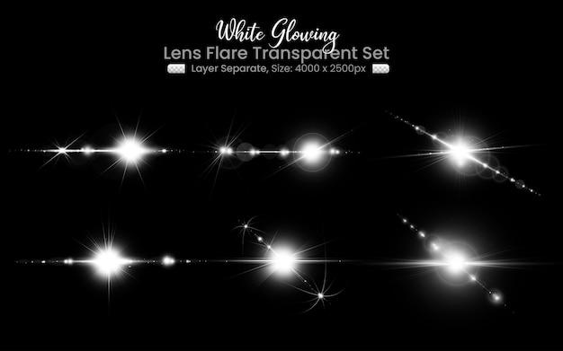 Lentille blanche avec collection de lumières à lentille abstraite