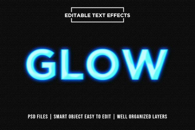 Lettrage glow