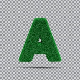 Lettre 3d de l'herbe verte