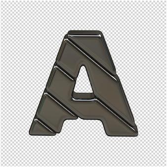 Lettre d'argent du rendu 3d de l'alphabet russe