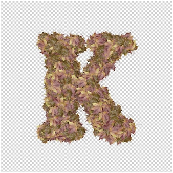 Lettre faite de feuilles d'automne