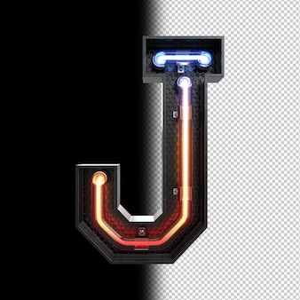 Lettre néon j