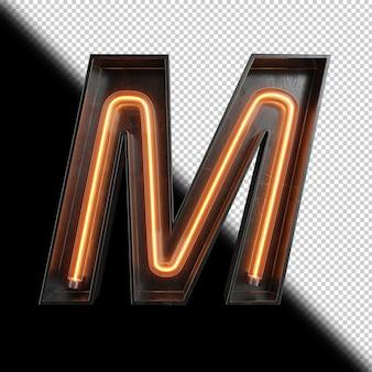 Lettre néon m