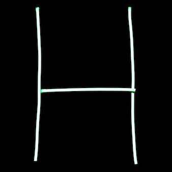 Lettres de l'alphabet néons verts