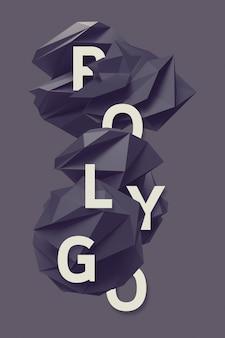 Lettres de texte dans le modèle polygonal 1
