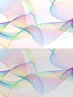Lignes colorées abstraites sur fond blanc