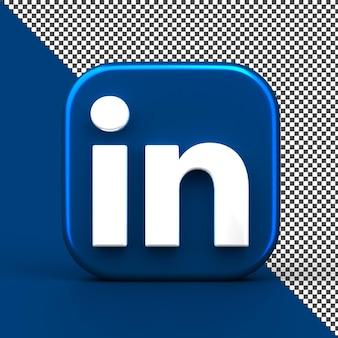 Linkden 3d icône de l'application rendu isolé