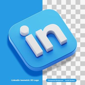 Linkedin emplois compte d'application 3d logo concept rendu icône en isométrique isolé