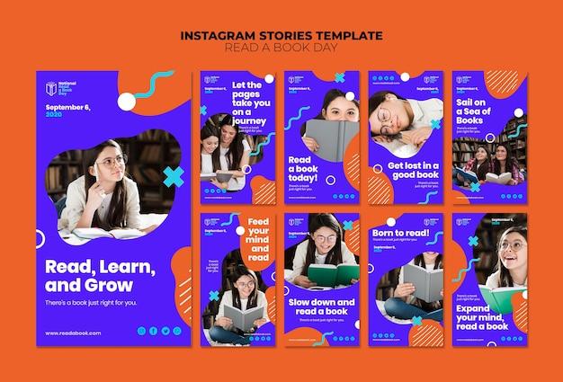 Lire des histoires instagram d'une journée du livre