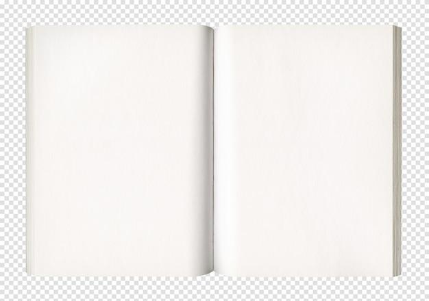 Livre ouvert blanc isolé sur blanc