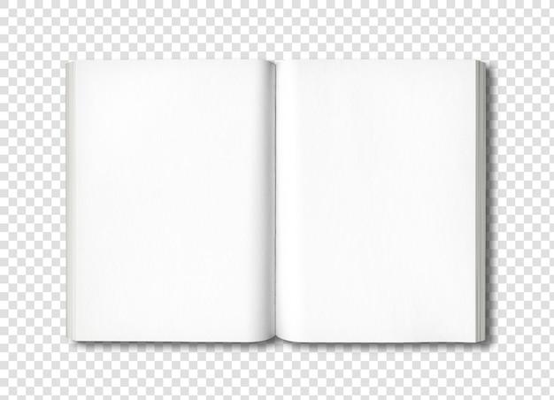 Livre ouvert isolé sur blanc