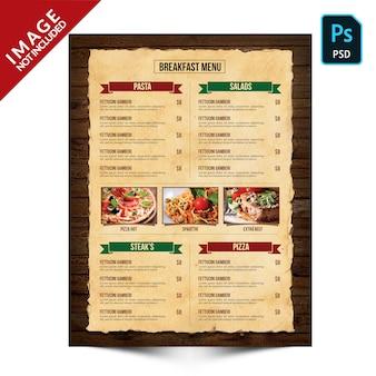 Livre vintage food menu côté b