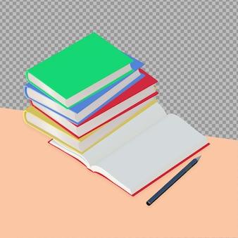 Livres 3d avec stylo