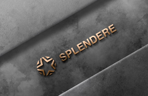 Logo 3d maquette mur