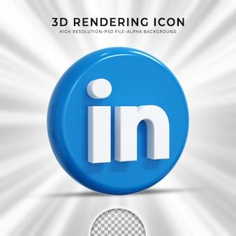 Logo brillant linkedin et icônes de médias sociaux