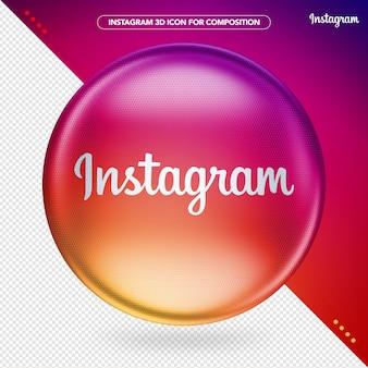 Logo coloré 3d instagram