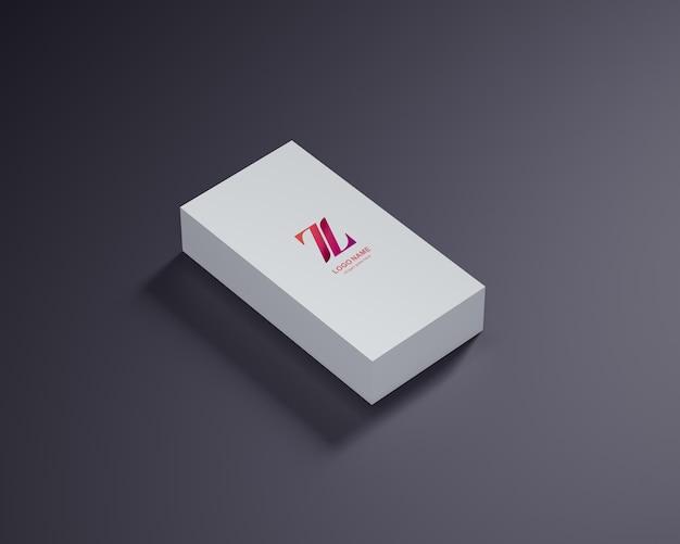 Logo sur la conception de la maquette de la boîte