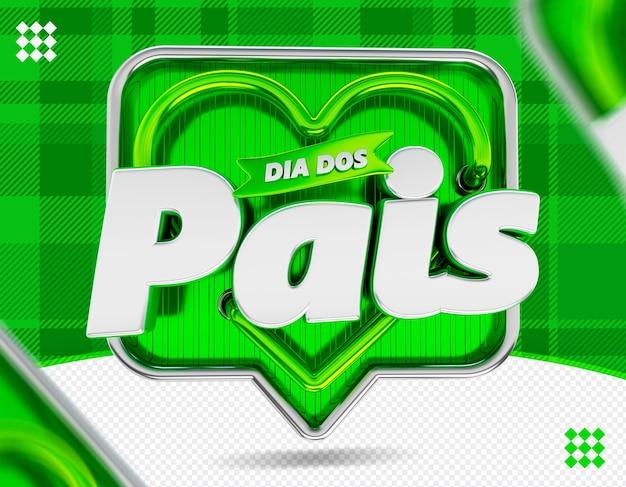Logo dia dos pais logo fête des pères