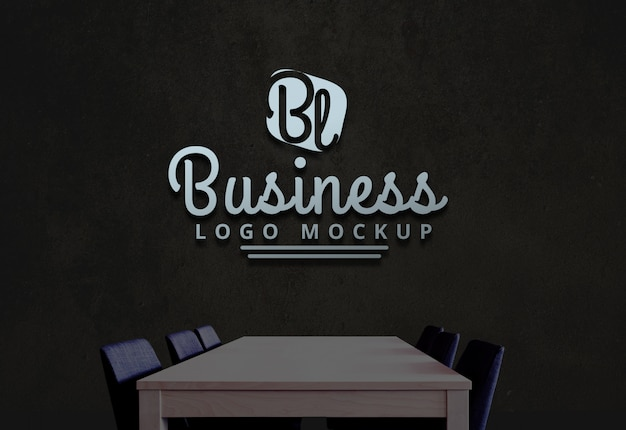 Logo entreprise maquette maquette logo psd