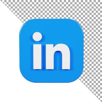 Logo d'icône 3d lié en minimaliste