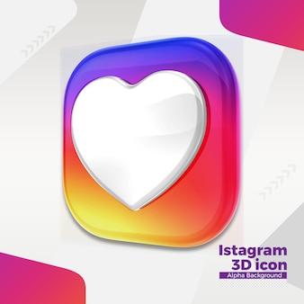 Logo instagram 3d pour les médias sociaux