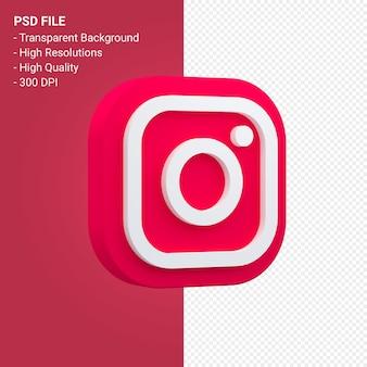 Logo instagram dans l'icône de rendu 3d