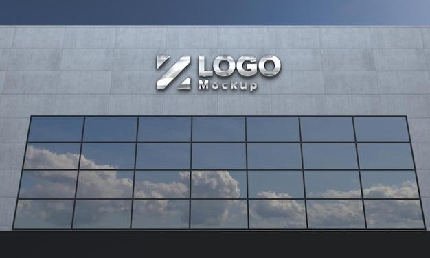 Logo maquette 3d signe bâtiment rendu 3d