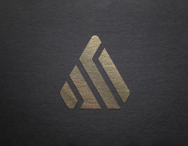 Logo maquette argent et or