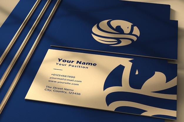 Logo sur la maquette de la carte de visite
