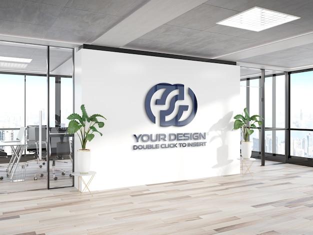 Logo sur la maquette du mur du bureau